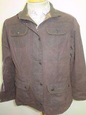 Ladies Barbour L1094 Ladies Utility Jacket Waxed Cotton UK 18 Euro 46 in Brown