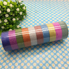 DIY 3m Glitter Washi Sticky Paper Masking Adhesive Tape Label Craft Decorative
