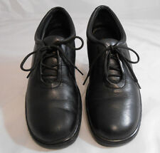 Naturalizer 855N45 Black Leather Lace Up Low Wedge Shoes Womens Size 8.5 N