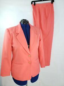 Haberdashery Petites ny Leslie Fay 2 Piece Corral Pant Suit size 8P / 16P R32