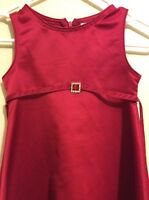 PERFECTLY DRESSED LUSTROUS RED GIRL'S PARTY DRESS SIZE 6