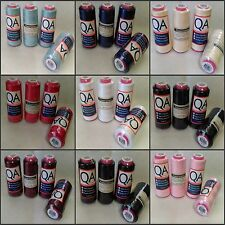 Overlocker Thread ~ 4 Spools of 2000 Metres ~ Choose Colour