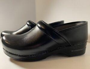 Dansko Womens XP 0060240 Black Comfort Clogs Shoes Round Toe Sz EU 43 US 12