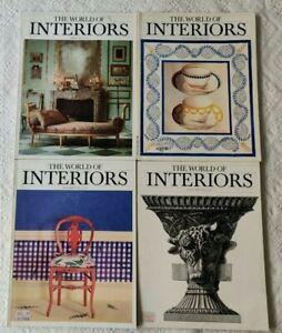 Lotto quattro numeri INTERIORS. 1986/89. (2).