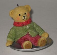 Hallmark Keepsake Ornament Wendy Whoosh Teddy Bear on Saucer Sled