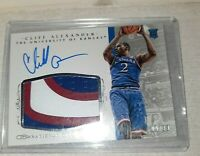 2015 National Treasures  CLIFF ALEXANDER 3 Color Rookie Patch Auto /99 Kansas
