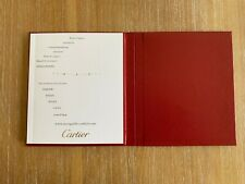 NEW CARTIER WATCH MANUAL BOOKLET WITH PAPER HOLDER
