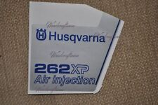 Husqvarna non-OEM 262 XP COVER sticker decal 503619803