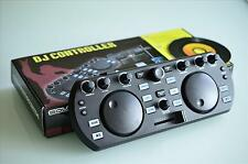 DJ Controller 2 Kanal Mixer DJ Console Deck Digital USB Audio MIDI + Software