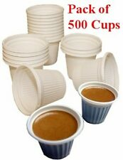 Disposable mini cups for Cuban coffee. 500 cups. 3/4 Oz capacity