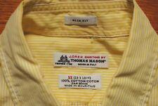 Men's J.Crew by Thomas Mason Slim Fit Shirt in Sun Stripe Size XS 100% Cotton