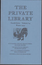 Otto Rohse Press. Brautigan Library. T.E.Lawrence Society E3.196
