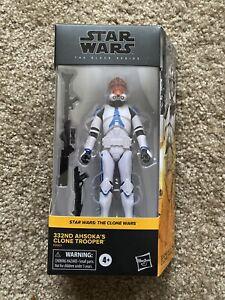 """Star Wars Black Series 332ND AHSOKA'S CLONE TROOPER 6"""" Figure In Hand"""
