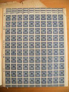 Deutsches Reich postfrisch 1923 Inflationsmarken verschiedene Werte beschädigt