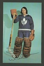 Dunc Wilson Goalie 1970s Toronto Maple Leafs Hockey Postcard