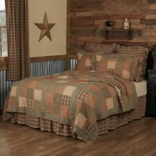 COUNTRY PRIMITIVE RUSTIC CROSSWOODS PATCHWORK QUILT COLLECTION VHC BRANDS