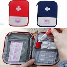 New Portable  First Aid Kit Bag Pill Tablet Storage Pouch ( RED )