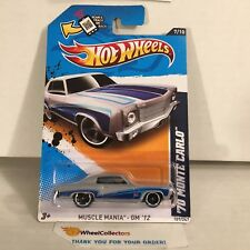 '70 Monte Carlo #107 * Silver/Blue Walmart * 2012 Hot Wheels * WA2