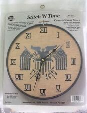 Needle Magic Stitch 'N Time Counted Cross Stitch Clock Americana #375 New