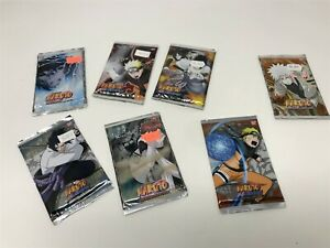 Lot of 7 Booster Packs Naruto CCG Card Game - RARE Vintage Sealed Legends & More