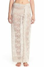 NWT FREE PEOPLE SzS SCALLOPED SHEER LACE HALF SLIP-MAXI SKIRT IN OATMEAL $118