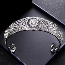 Luxury Duchess Tiara Wedding Crown Crystal Rhinestone Headband Bridal Headpieces