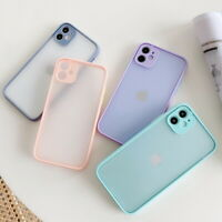 Camera Protection Matte Clear Case Cover For iPhone 11 12 Pro Max SE 2 XR XS 8 7