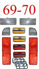 69 70 Chevy 10Pc Tail Light, Deluxe Side & Clear Parking Light Kit C/K Truck