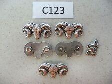 #C123 Enmon Lot of 5 Conchos of a Single Rams Head 42x25mm