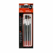 Studio 5 BA30505 5-Pc Hobby and Craft Artist Brush Set, Pack of 12