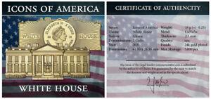 2021 Ghana White House 18 g CuNi Gilt GH¢2 Coin GEM BU PRESALE