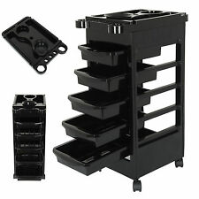 Hair Beauty Coloring Salon Hairdresser 5 Drawers Storage Adjustable Trolley