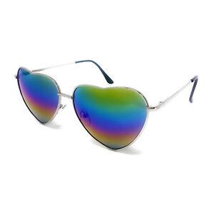 Love Heart Shape Sunglasses Womens Ladies Lolita Fashion Fancy Dress Metal Frame