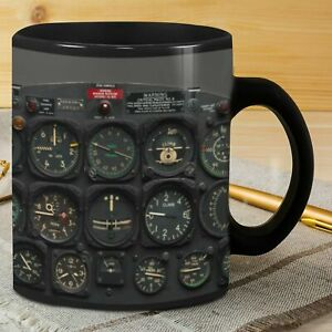 Pilot Instrument Ceramic Coffee Mug Gift For Pilot 11oz-15oz