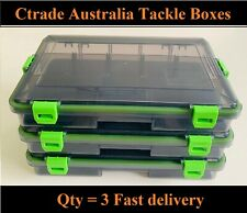x 3 Fishing Tackle Boxes Waterproof Lures Hooks Sinkers Swivels Storage Boxes 👍