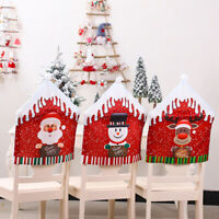Christmas Decor Chair Covers Dining Seat Cover Santa Claus Xmas Party Decoration