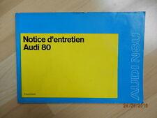 Notice d'utilidation AUDI NSU audi 80 1973