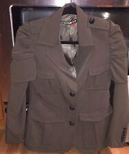 Literature Noir Lt Dan Olive Green Down Blazer Xs Military Jacket