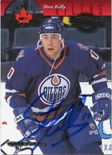 STEVE KELLY OILERS AUTOGRAPH AUTO 97-98 DONRUSS CANADIAN ICE ROOKIE #130 *31301