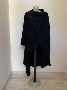 Vivienne Westwood Black wool wrap coat size 38/ Small