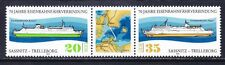 Germany DDR 2017a MNH 1979 Railroad Ferry Boats Pair w/Label Very Fine