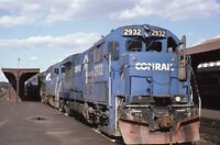 CONRAIL Railroad Locomotives Train Station SPRINGFIELD MA Original Photo Slide