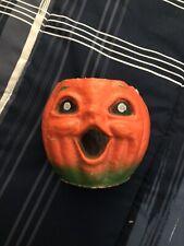 Vintage Halloween Paper Mache Jack o' Lantern Pumpkin