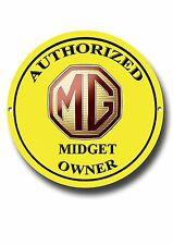 mg Autorizado pequeña Amo Metal Señal Clásico British Mg Coches Clásicos coches
