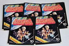 Americana 1978 Battlestar Galactica 5 X Sac en Papier Paquet Bustina Rare ! Rare