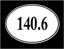 Ironman Sticker 140.6 Euro Oval Car Sticker Window Triathlon Vinyl Decal