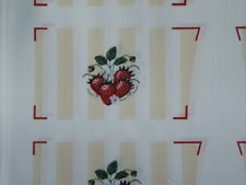 1 fabric panel, 6 sets of oven mitt tops,  STRAWBERRIES