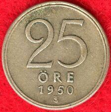 SWEDEN - 25 ORE - 1950 - 40% SILVER - 0.0298 ASW