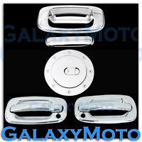 99-06 Chevy Silverado Triple Chrome 2 Door Handle+PSG KH+Tailgate+Gas Tank Cover