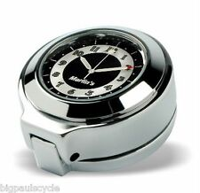 Marlin's Flip Fork Lock Cover Harley Road King - RETRO Black & White Face Clock